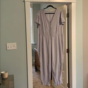 Light blue and white jumpsuit